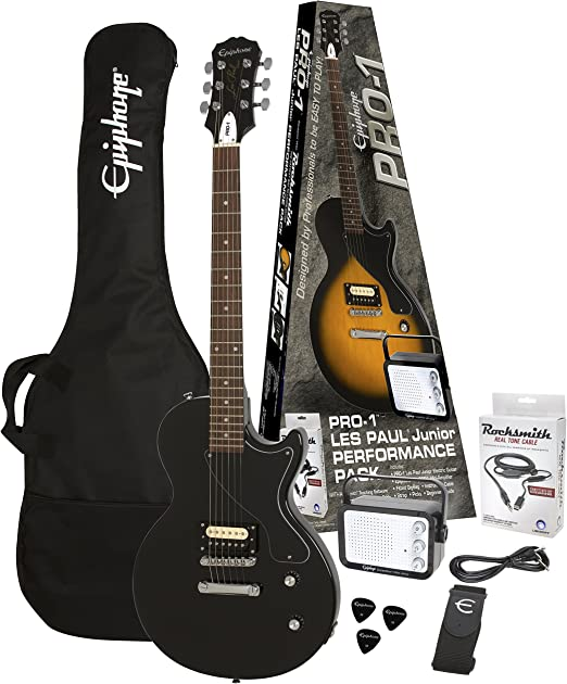 PRO-1 Les Paul Junior Performance Pack Ebony: Amazon.es: Instrumentos musicales