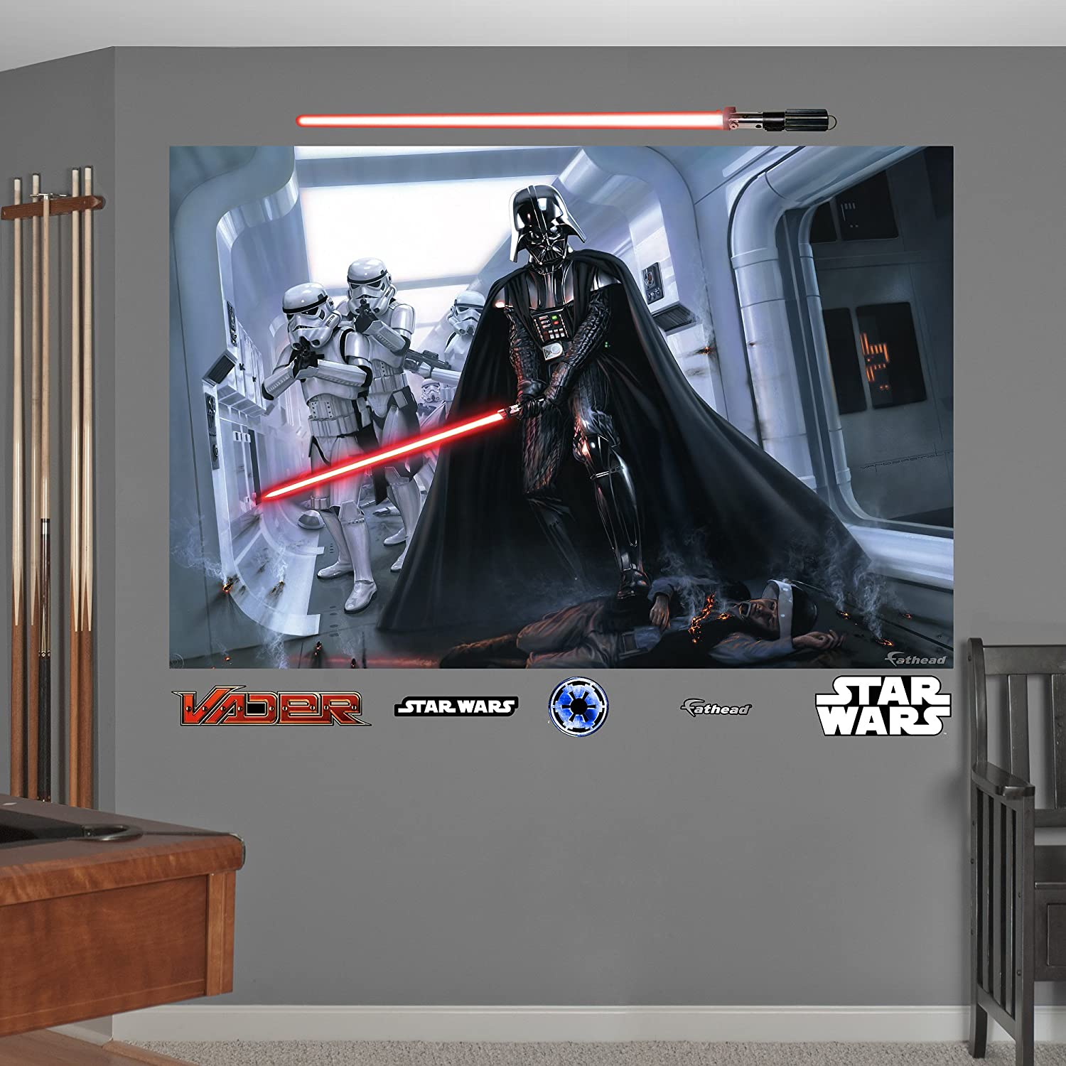 Amazon.com: FATHEAD Darth Vader And Stormtroopers Fallen Rebel Mural  Graphic Wall Décor: Home U0026 Kitchen Part 59
