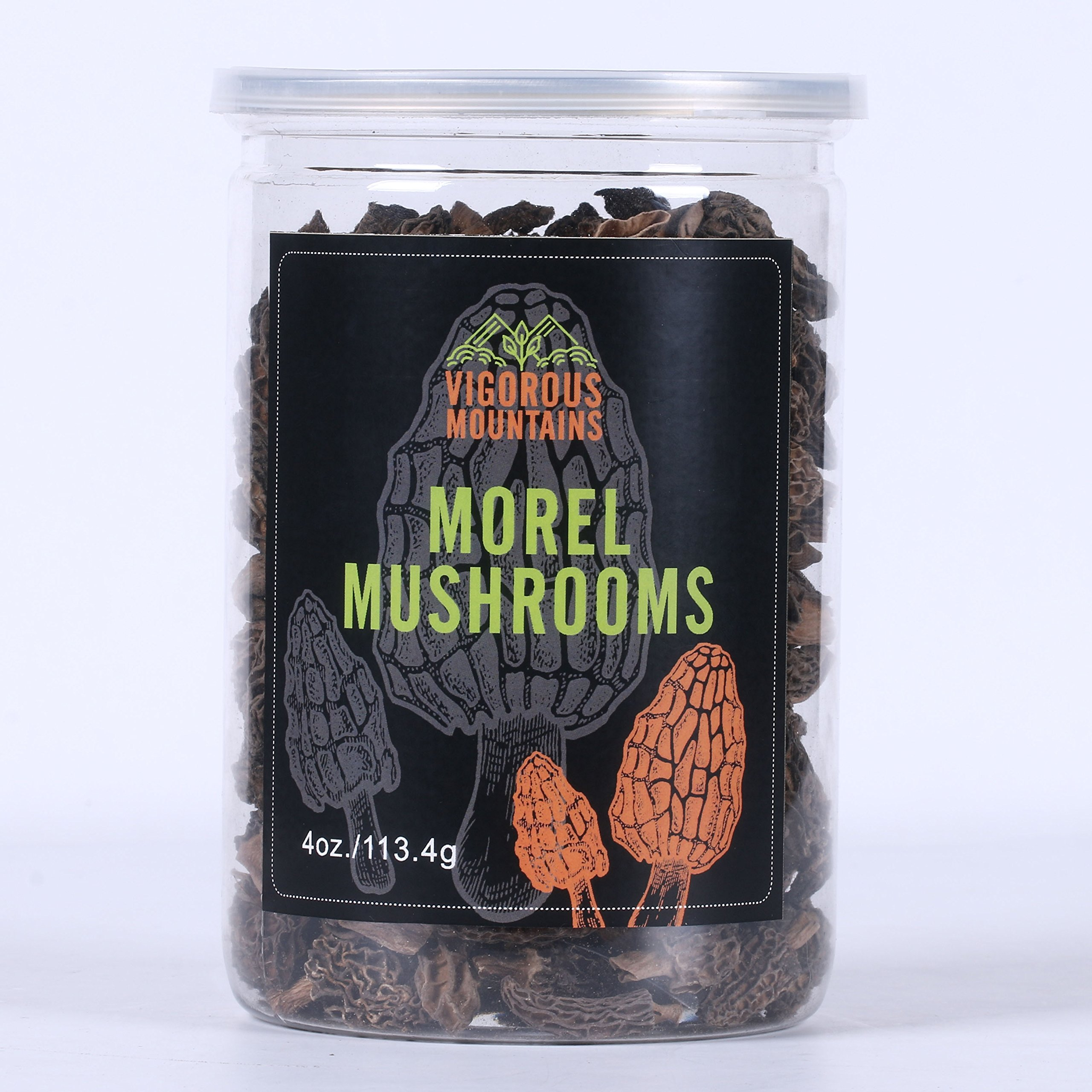 Vigorous Mountains Dried Morel Mushrooms 4 Ounce Wild Morchella 2-3cm