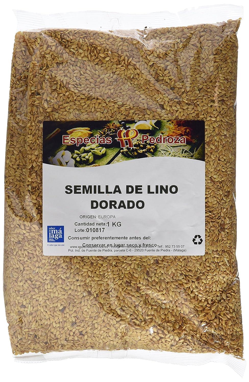 Especias Pedroza Semilla de Lino Dorado - 5 Paquetes de 1000 gr - Total: 5000 gr