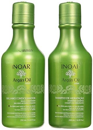 Inoar Duo Kit de aceite de argán progreso Champú y Acondicionador, 250 ml: Amazon.es: Salud y cuidado personal