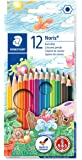 STAEDTLER Pack of 12 Noris Club colouring pencils, Assorted