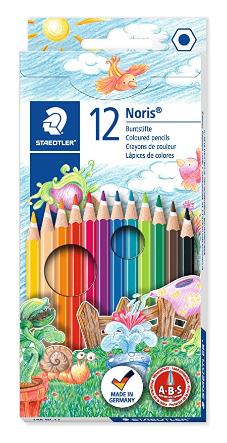 ESTUCHE 12 LAPICES COLORES SURTIDOS NORIS CLUB 144