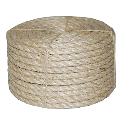 T.W Evans Cordage 23-410 3/8-Inch by 100-Feet Twisted Sisal Rope: Home Improvement