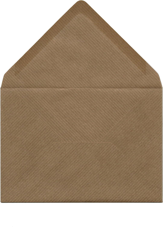 Kraftpapier Briefumschläge DIN B6 C6 nassklebend Kraft Natur braun ohne Fenst.