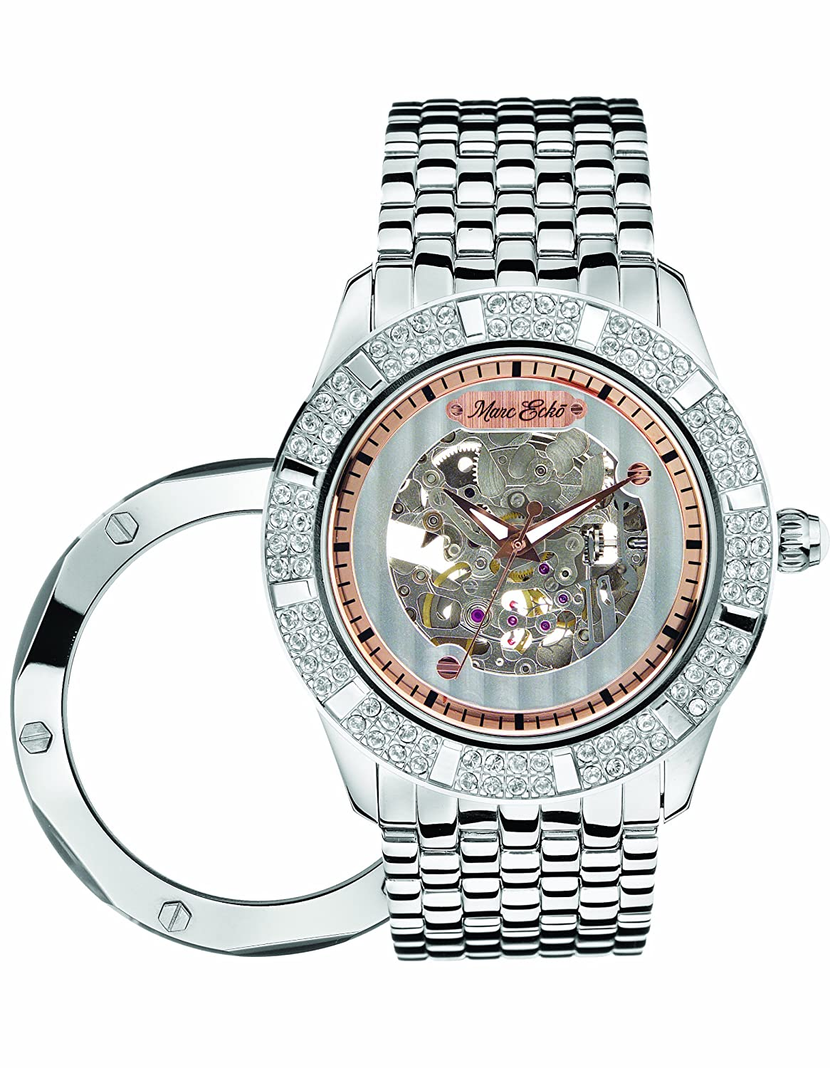 Amazon.com: Marc Ecko E35000G1 Duke Automatic Silver Dial Stainless Steel  Bracelet Watch: Watches