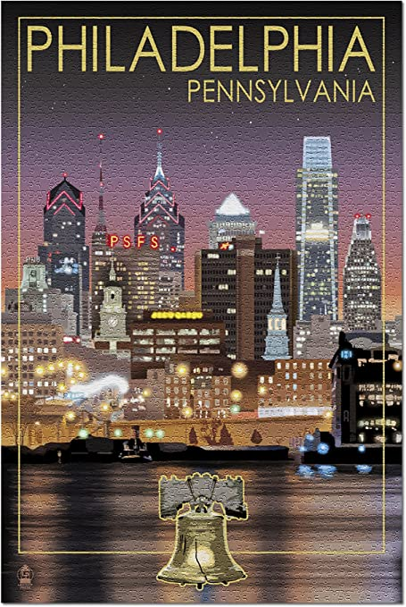 "Jigsaw puzzle Explore America Philadelphia  NEW 500 piece Made in USA 20/"" x 16/"""
