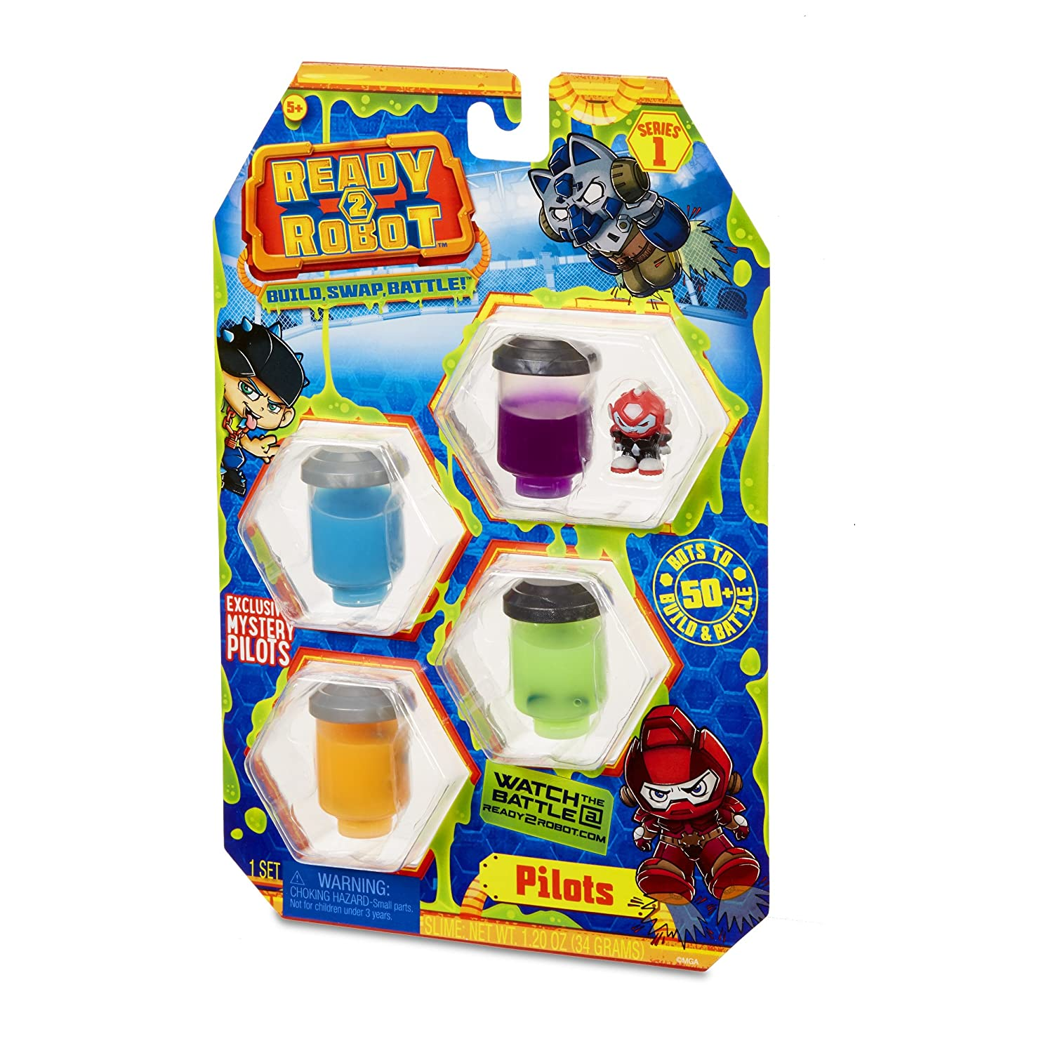 Ready to Robot Pilots Style 2 Collectable Toy, Multicolor
