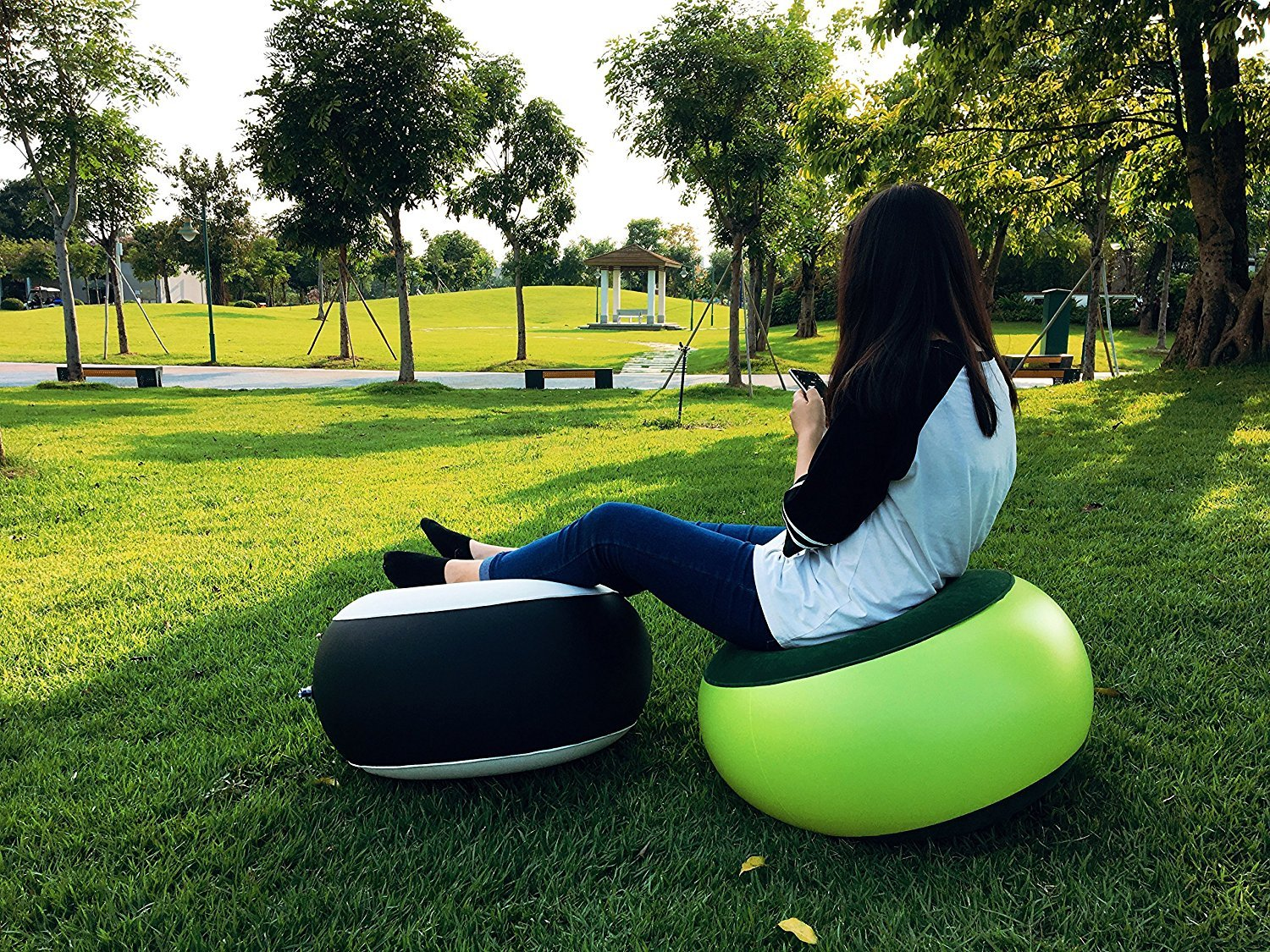 Outdoor Camping Inflatable Stool Inflatable Couch Portable