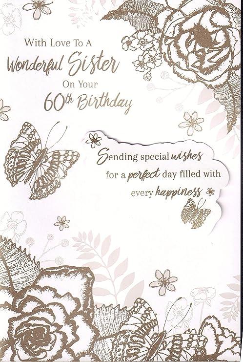 Tarjeta de felicitación de 60 cumpleaños para hermana ...