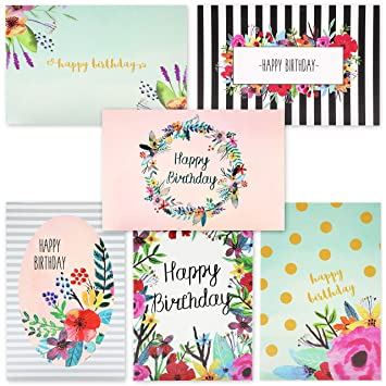 Juvale 48 Pack Bulk Happy Birthday Cards Box Set