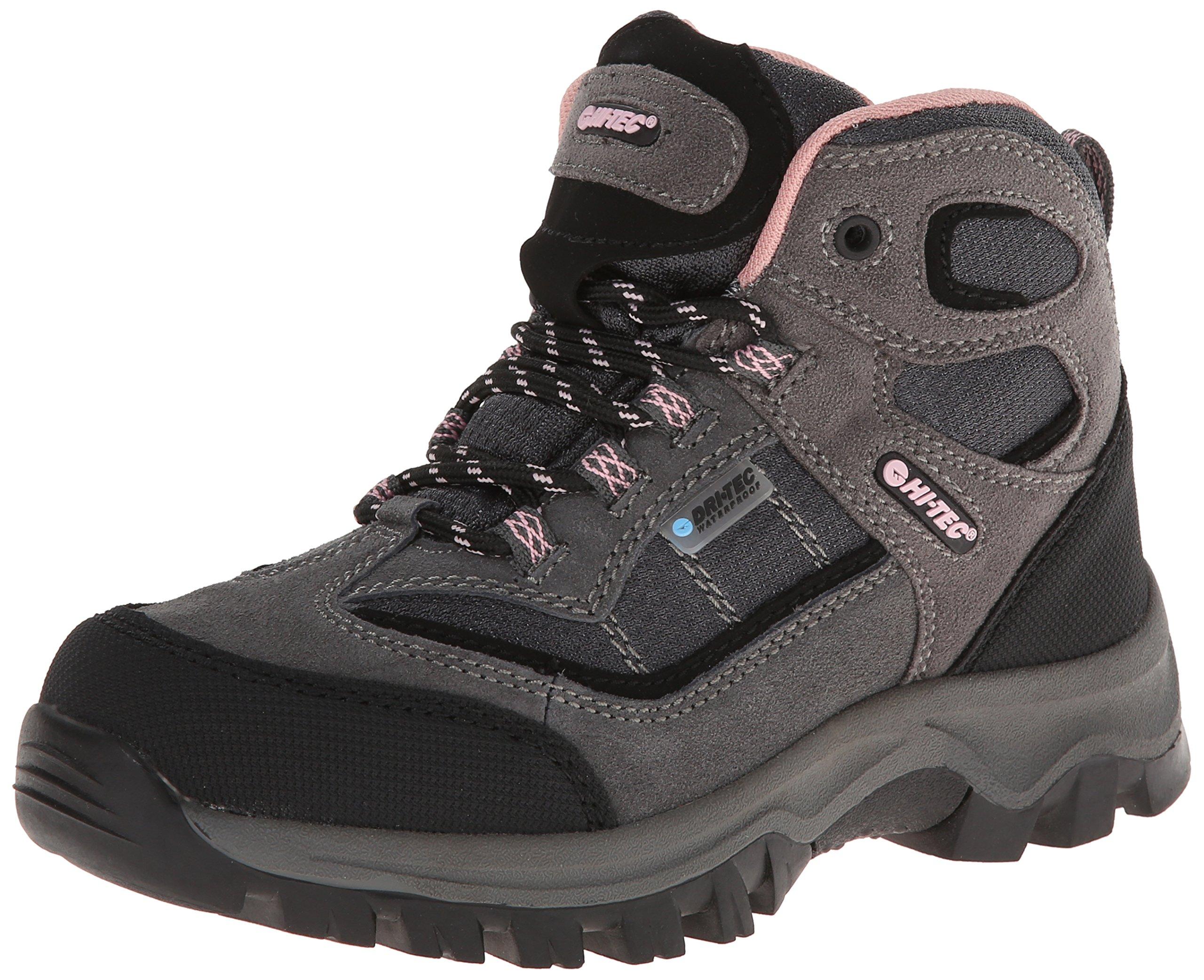 Hi-Tec Kids Unisex Hillside Waterproof Jr hiking Boot (Toddler/Little Kid/Big Kid), Charcoal/Blush, 5.5 M Big Kid