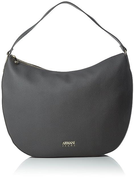 f5d01b311e Armani Jeans Borsa Hobo - Borse a spalla Donna, Grau (Antracite), 31x10x43