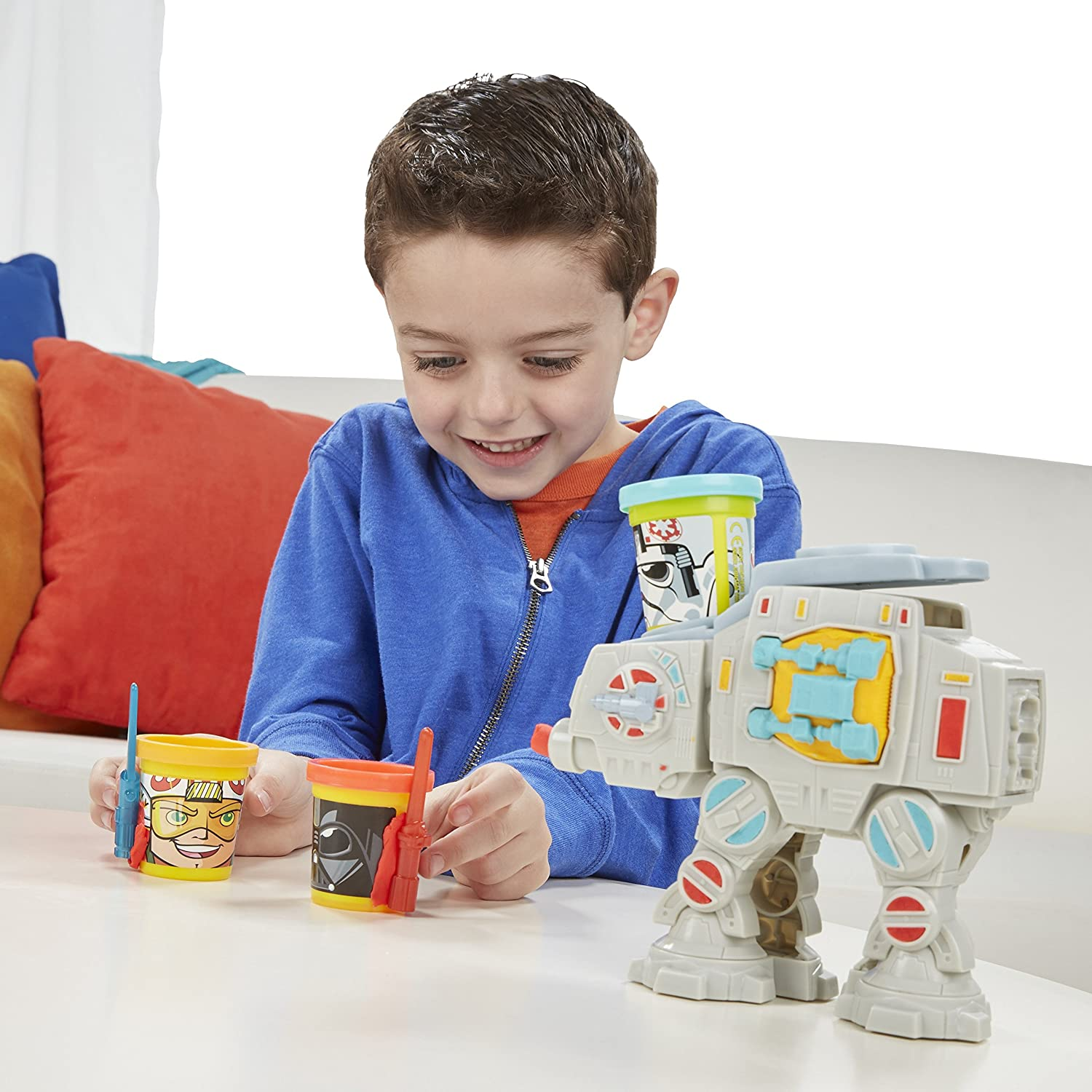 Amazon Play Doh Star Wars AT AT Attack with Can Heads Toys