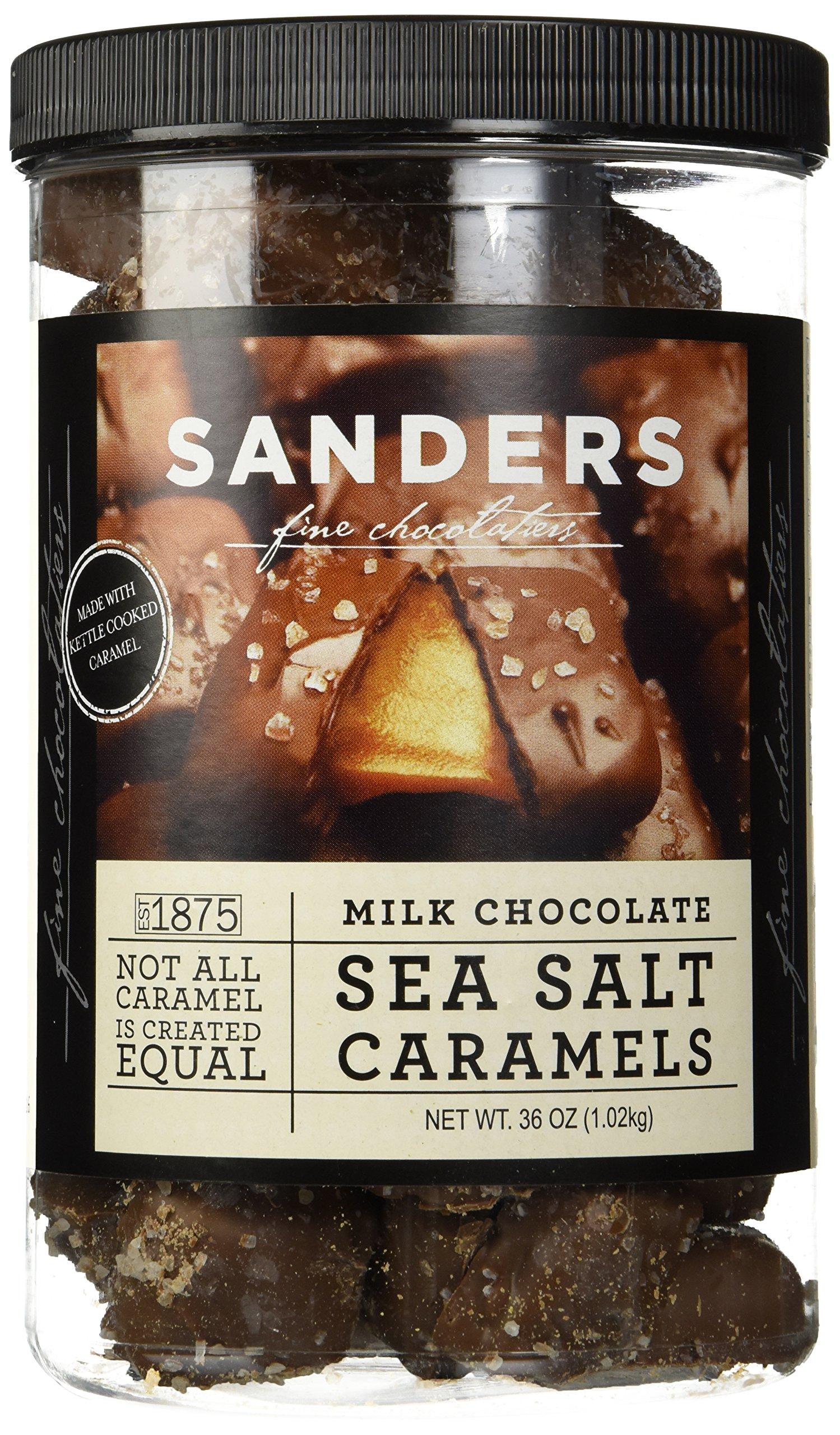 Sanders Milk Chocolate Sea Salt Caramels - 36 Oz. (2.25 lb) by Sanders® (Image #1)