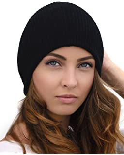 080b8e19a7f Women Men Winter Beanie Hat - Cashmere Wool Acrylic Cable Thick Knit ...