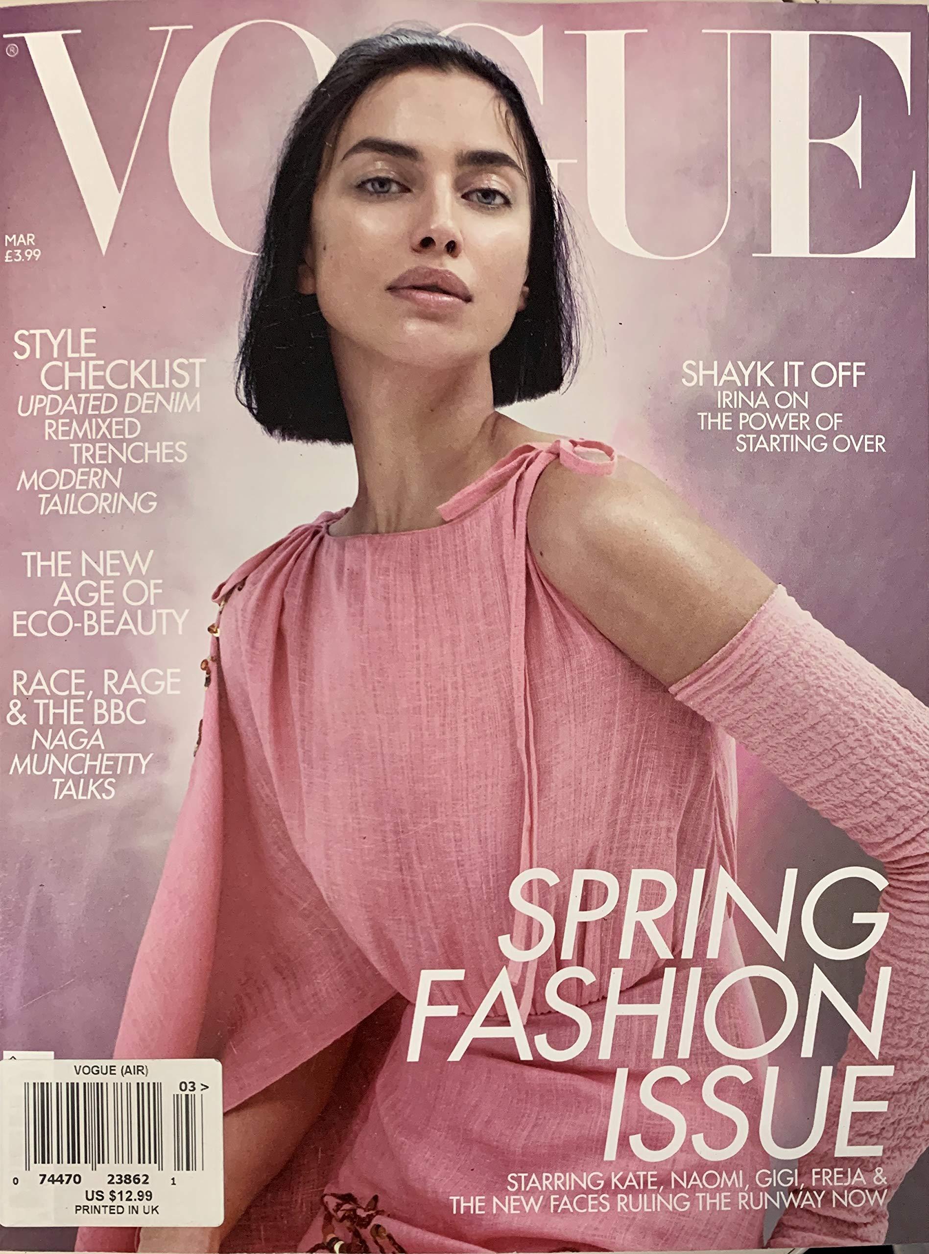 Vogue UK Magazine March, 12 Irina Shayk Cover Amazon.com Books