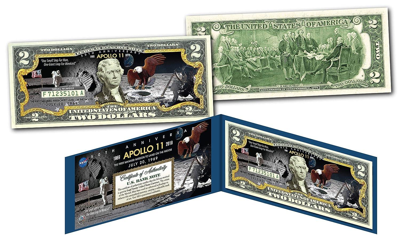 APOLLO 11 NASA Moon Landing 50th ANNIVERSARY Genuine Legal Tender $2 US Bill