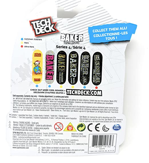 Amazon.com: Tech Deck BAKER Series 4 Cyril Jackson Ultra Rare Fingerboard Skateboard Toy Skate Board: Home & Kitchen