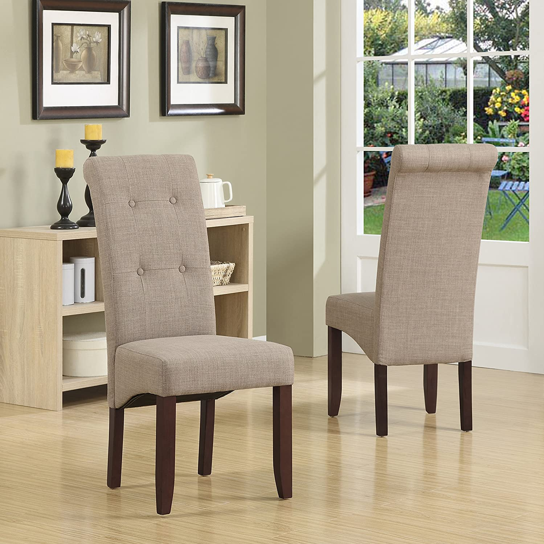 Amazon Simpli Home Cosmopolitan Deluxe Tufted Parson Chair