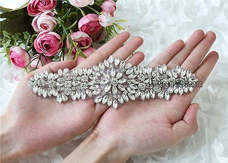 Queendream royal strass applique socialite ricami per matrimonio