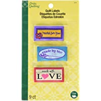 Dritz Quilting Sew-In Embroidered Labels 9/Pkg-Made with Love