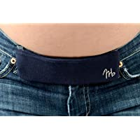 Maeband Maternity Belly Band | Pregnancy Belt, Waistband Extender, Pregnancy Clothes, Maternity Jeans (Small, Midnight Black)