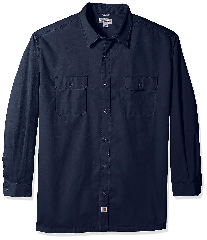 53cd7a38ffb5 Amazon.com  Carhartt Men s Big-Tall Twill Work Long Shirt Button Front