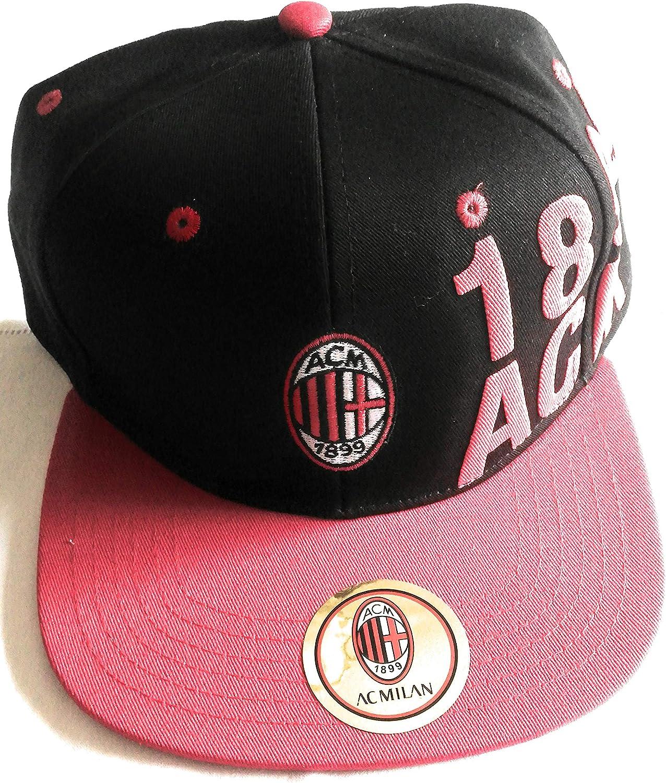 AC Milan Cappello Rap Adulto Rosso Nero