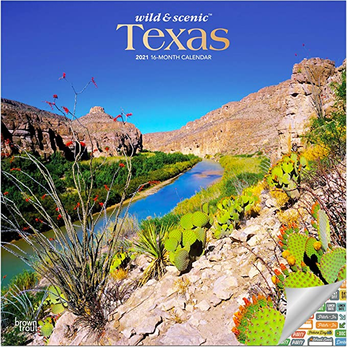 Amazon.: Texas Wild and Scenic Calendar 2021 Bundle   Deluxe