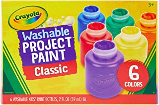 product image for Crayola Washable Kids Paint, 6 Count, Kids At Home Activities, Painting Supplies, Gift, Assorted
