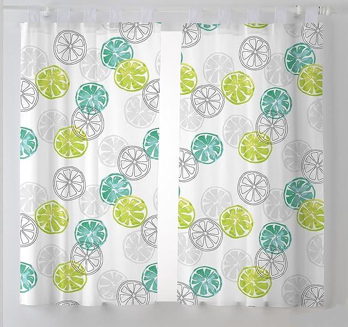 Martina Home Lemon Cortinas Visillo para Cocina, Tela, Amarillo, 100 x 140 cm (Pack 2 Unidades): Amazon.es: Hogar