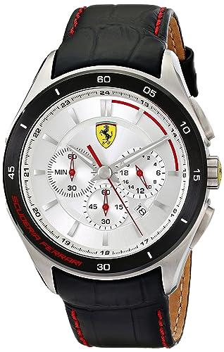 Ferrari Men s 0830186 Gran Premio Analog Display Quartz Black Watch
