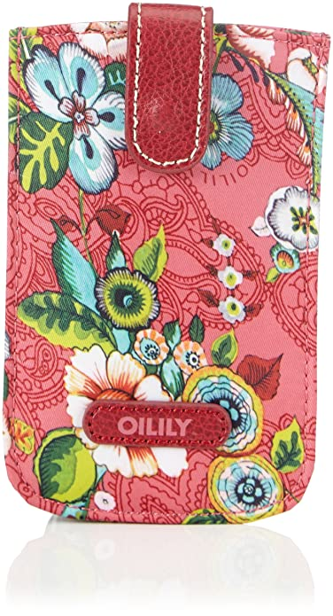 Oilily French Flowers Smartphone Pull Case Pink - Cartera para carnet y tarjetas de material sintético mujer, color rosa, talla 14x9x3 cm (B x H x T): ...