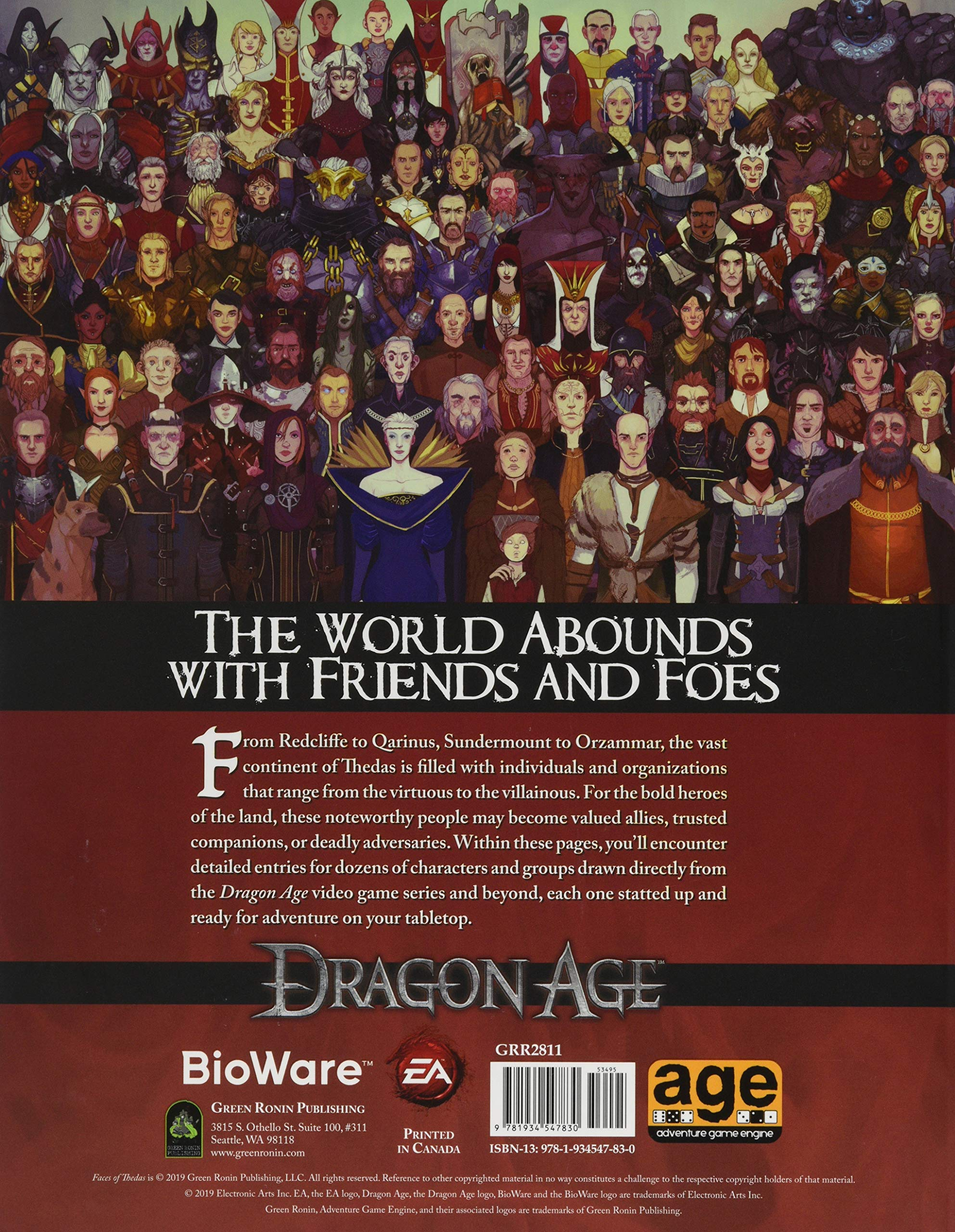 Dragon Age Faces