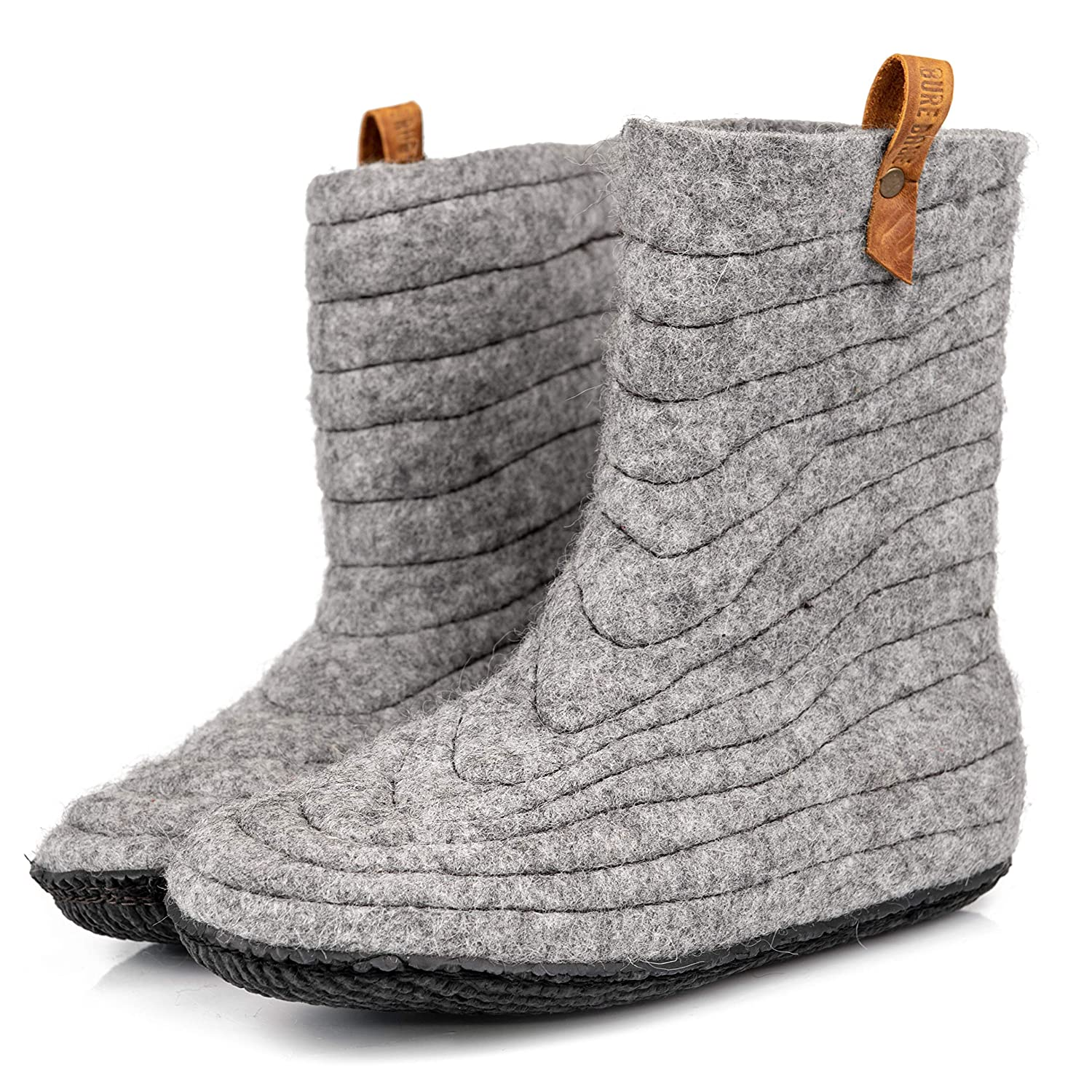 5232b1d334955 Amazon.com: BureBure Warm Wool Ankle Boots Slippers for Women Blue ...