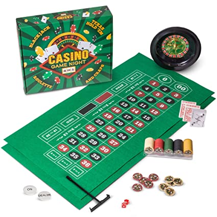 Amazon.com: Casino Game Night | 4-in-1 Gambling Game Set ...