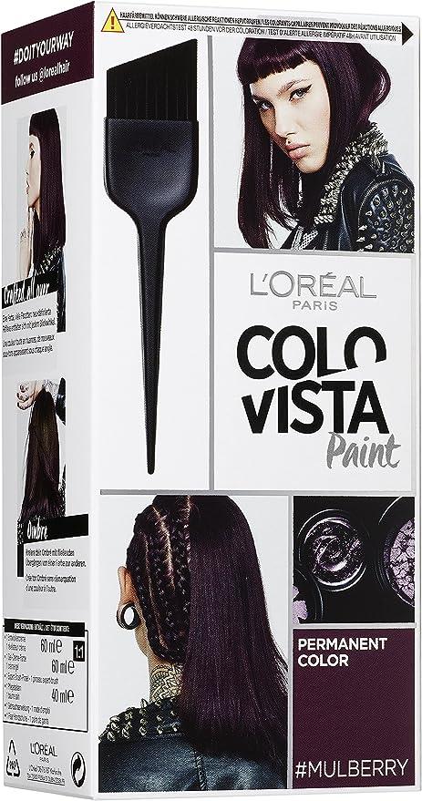 Loréal Colovista Permanent Paint - Tinte permanente color mora (mulberry) número 14
