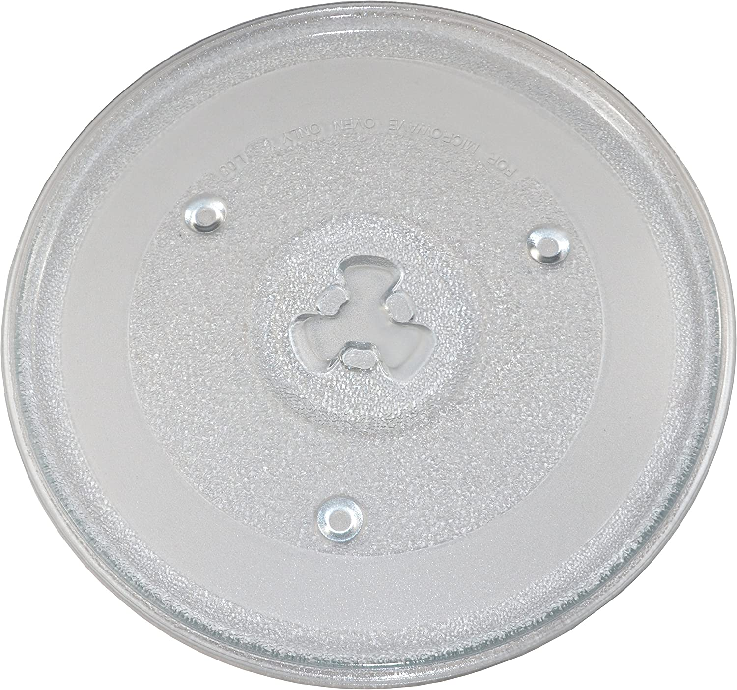 "HQRP 10.5"" / 27cm Glass Turntable Tray fits GE General Electric, Hamilton Beach, Panasonic, Emerson, Haier, Chefmate, Avanti, Sunbeam, Oster, Rival Microwave Oven Cooking Plate 10-1/2-inch 270mm"