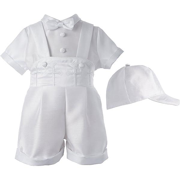Baby Boys White Outfit Shorts Set 5 Pc Suit Vest Christening Baptism Dedication