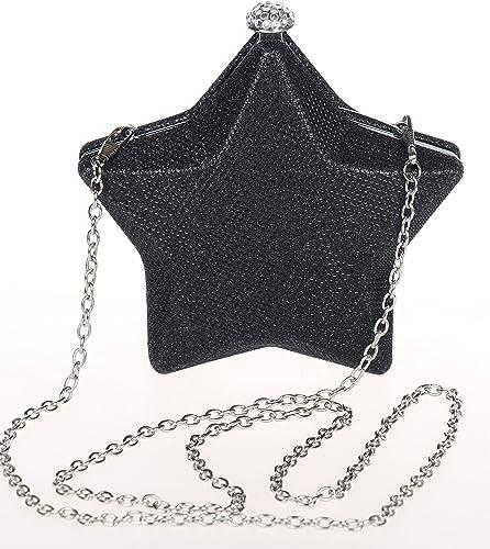 Small Clutch Bag Ladies Diamante Evening Handbag Heart Shaped Sparkling Glitter
