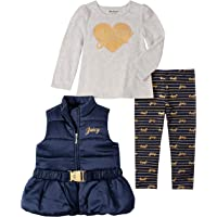 Juicy Couture Baby Girls 3 Pieces Vest Pants Set