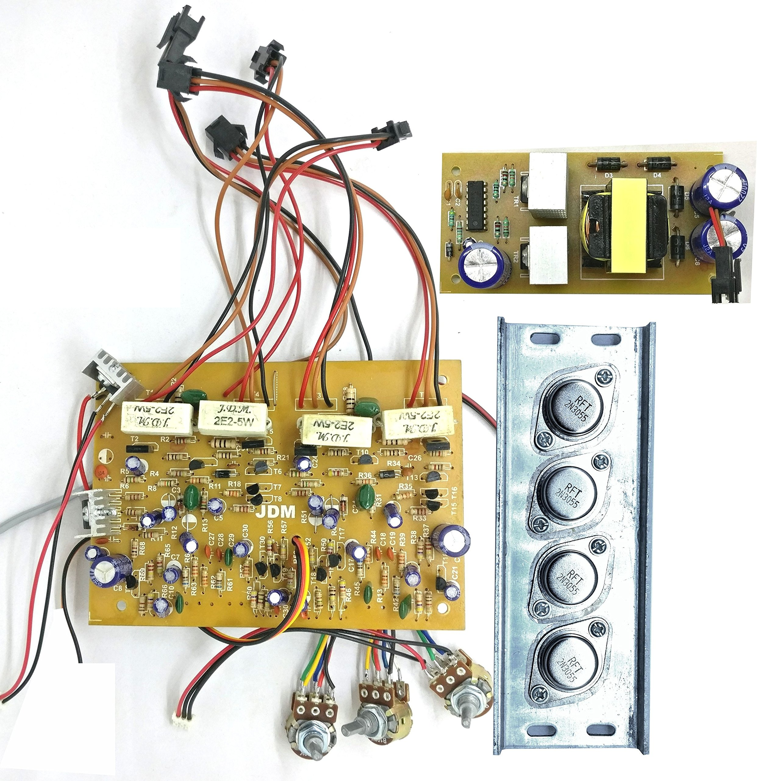 TECH AND TRADE 300W DIY 2n3055 Transistor Based Stereo Audio Amplifier Board (Better than 4440 IC)