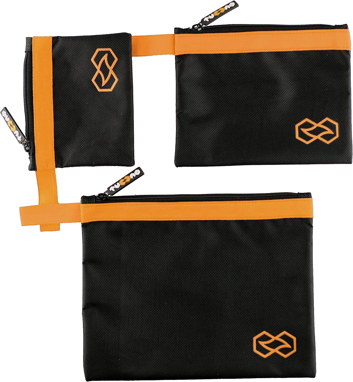Multi-taille, Orange Ensemble De Trousse /À Outils En Nylon Balistique Imperm/éable Avec Coutures Renforc/ées Pour Bricolage Organisation Facile
