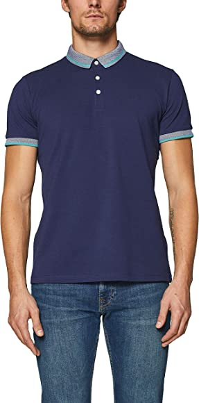 Esprit 019ee2k009 Polo, Azul (Navy 400), Small para Hombre: Amazon ...