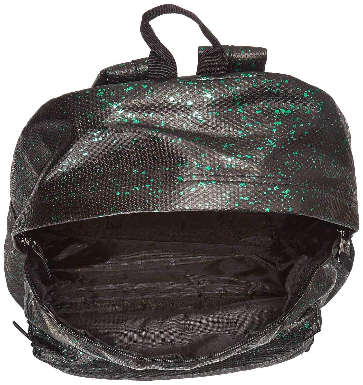 Zaino Unisex Adulto W x H x L Multicolore Nero//Verde 30x41x15 cm hype Flakes