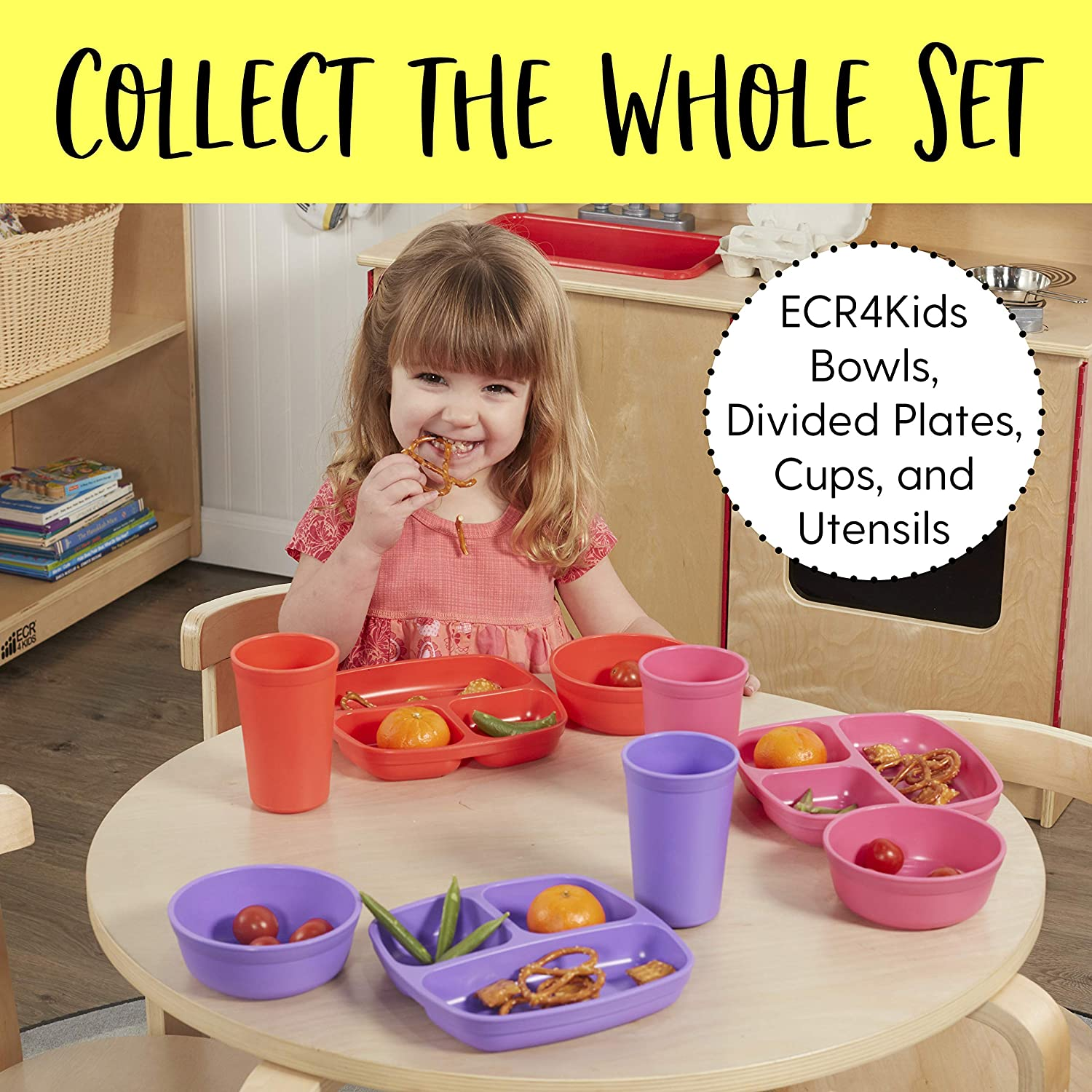 Stackable Bowls for Baby My First Meal Pal Snack Bowls 3-Pack Berry Toddler and Child Feeding Non-Toxic