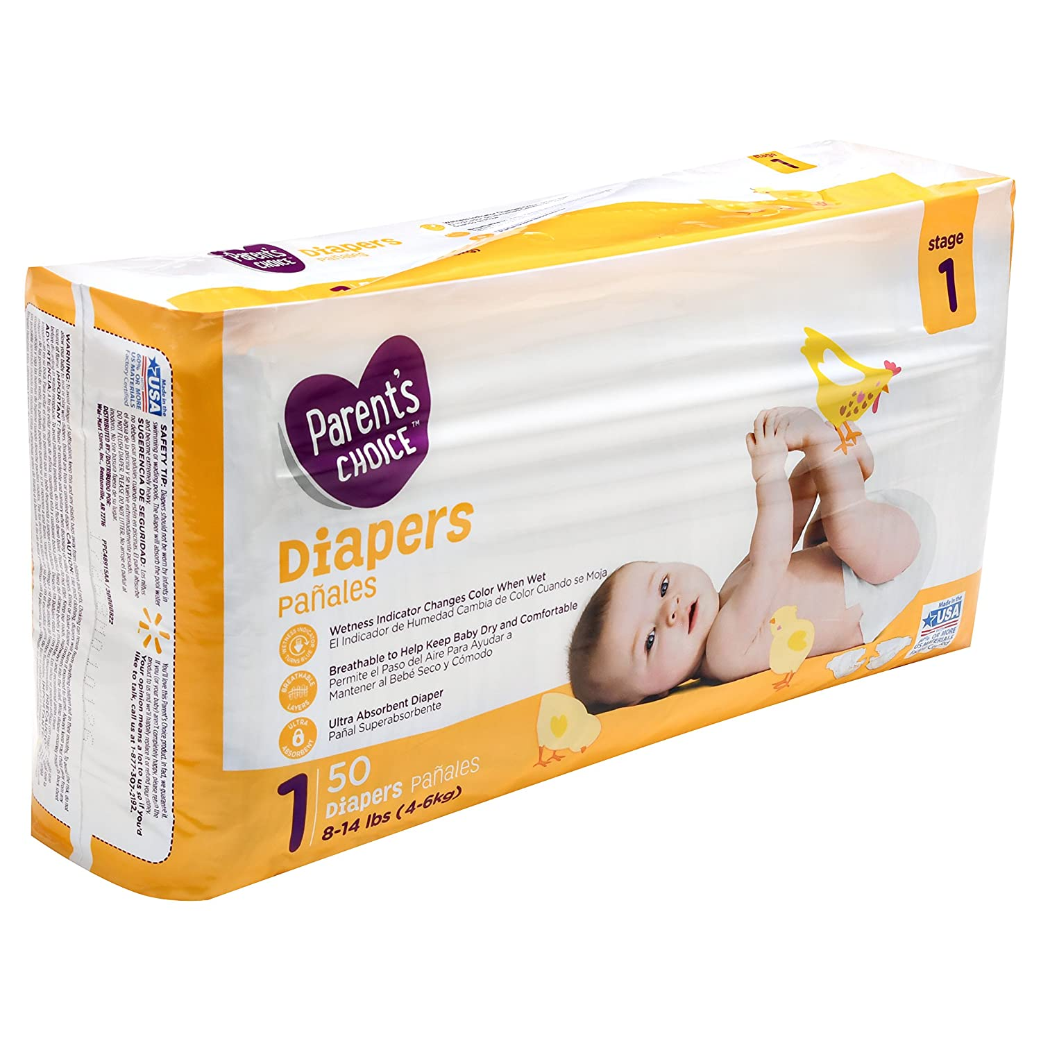 Amazon.com: Branded Parents Choice Diapers, Size 1, 50 Diapers , Weight 8-14lbs - Branded Diapers with fast delivery (Soft and Comfortable for Babies): ...