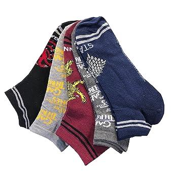 Calcetines para Hombre de Juego de Tronos, Paquete de 5 Pares, Pattern 1, UK 6-8 EU 40-42: Amazon.es: Hogar
