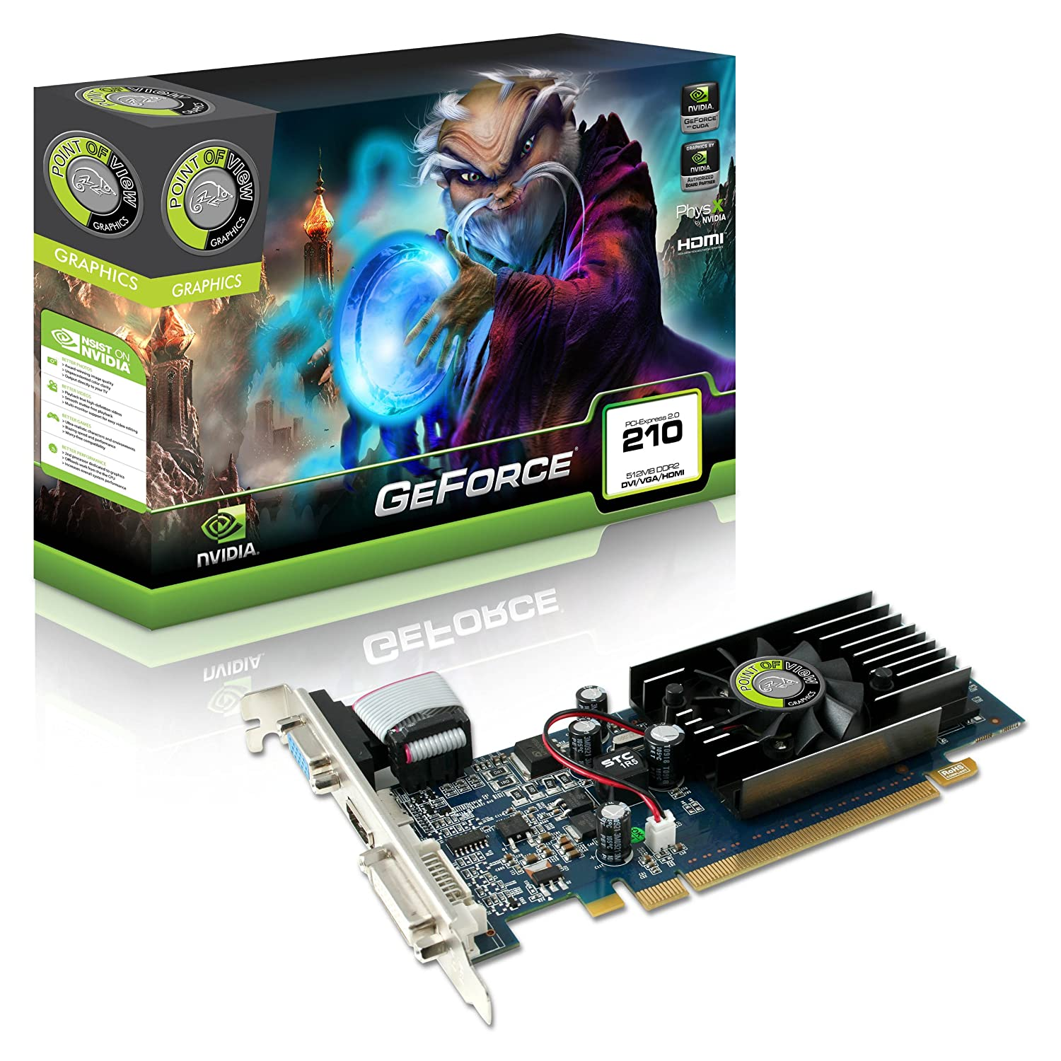 Amazon.com: Point of View GeForce (with CUDA) 210 512MB PCI ...